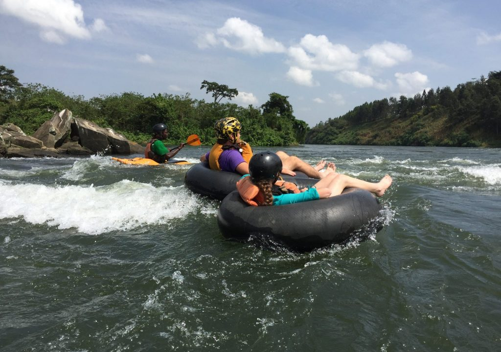 white water tubing on the nile