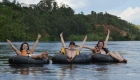 tubing on flat water